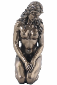 Sculpted Nude Female Kneeling Sculpture