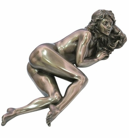 Sculpted Nude Female Leaning on One Arm Sculpture - 253