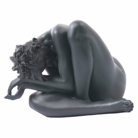 Sculpted Nude Female Leaning Over Sculpture - 271