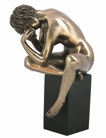 Sculpted Nude Female Leaning Over Sculpture - 368