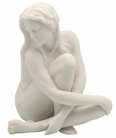 Sculpted Nude Female Porcelain Sculpture - 081