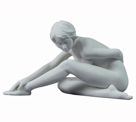Sculpted Nude Female Porcelain Sculpture - 30104