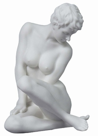 Sculpted Nude Female Porcelain Sculpture - 30105
