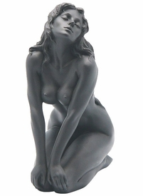 Sculpted Nude Female Sitting on Both Knees Sculpture