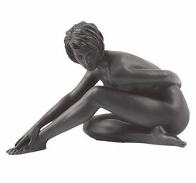 Sculpted Nude Female Stretching Her Leg Sculpture - 297