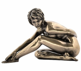 Sculpted Nude Female Stretching Sculpture - 297
