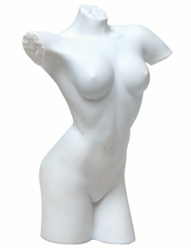 Sculpted Nude Female Torso Porcelain Sculpture - 040