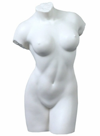 Sculpted Nude Female Torso Porcelain Sculpture - 064