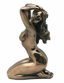 Sculpted Nude Female with Arms Raised Above Head Sculpture - 237