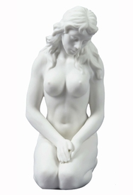 Sculpted Nude Woman Porcelain Sculpture - 30097