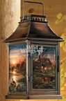 Shoreline Neighbors Cabin Metal and Glass Candle Lantern