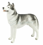 Siberian Husky Dog Sculpture
