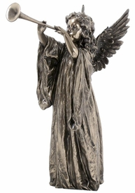 Singing Angel with Trumpet Sculpture