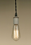 Single Porcelain Socket Pendant Lamp Light