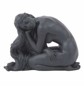 Sitting Sculpted Nude Female Sculpture