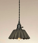 Small Crimped Pendant Lamp Light