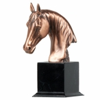Small Horse Bust Statue - Copper Finish