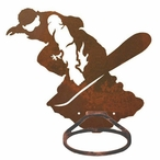 Snowboarder Metal Bath Towel Ring