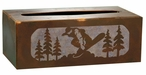 Snowboarder Metal Flat Tissue Box Cover