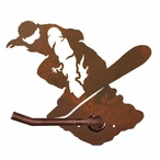 Snowboarder Metal Toilet Paper Holder