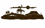 Spirit Talker in the Desert Scene Six Hook Metal Wall Coat Rack