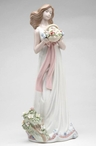 Spring Moment Lady Porcelain Sculpture
