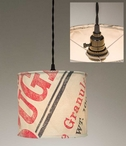 Stagecoach Sugar Canvas Pendant Lamp Light