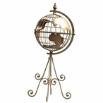 Standing Decorative Metal World Globe