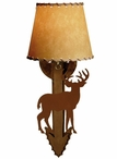 Standing Deer Arrow Metal Wall Sconce