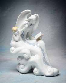 Story Telling Angel Porcelain Figurine