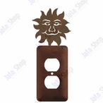 Sunface Single Metal Outlet Cover