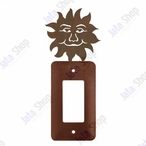 Sunface Single Rocker Metal Switch Plate Cover