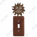 Sunface Single Toggle Metal Switch Plate Cover
