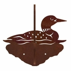Swimming Loon Double Metal Wall Hook