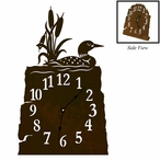 Swimming Loon Metal Table Clock