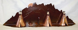 Teepee Village Metal Wall Art