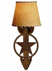 Texas Star Arrow Metal Wall Sconce