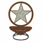Burnished Texas Star Metal Bath Towel Ring