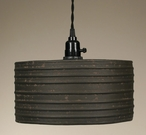 Textured Brown Round Hanging Pendant Lamp Light