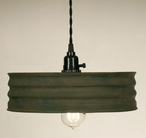 Textured Green Sifter Hanging Pendant Lamp Light