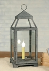 Textured Grey Medium Lancaster Metal Electric Lantern