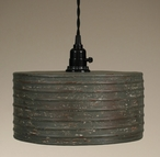 Textured Grey Round Hanging Pendant Lamp Light