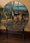 The Birch Line Whitetail Deer Folding Table