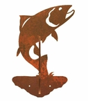 Trout Fish Double Metal Wall Hook