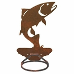Trout Fish Metal Bath Towel Ring