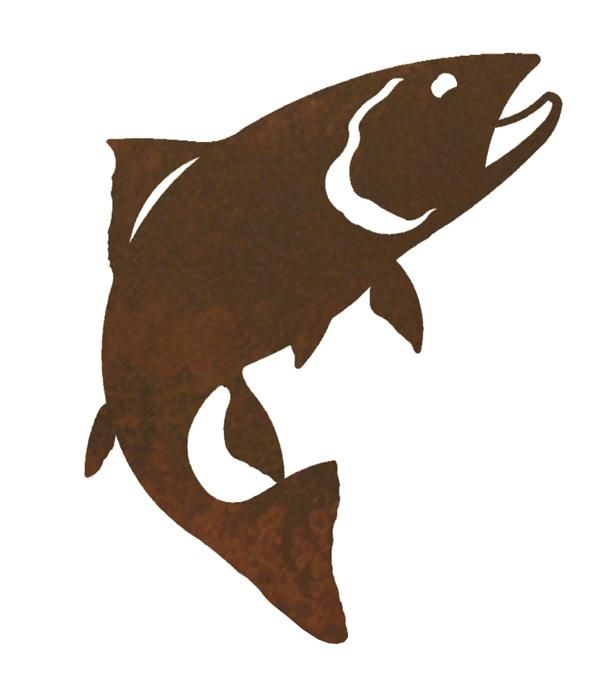 Trout Fish Metal Curtain Tie Backs - Rustic Curtain Accessories