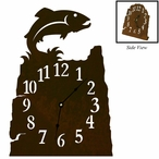 Trout Fish Metal Table Clock