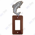 Trout Fish Single Rocker Metal Switch Plate Cover