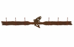 Trout Fish Six Hook Metal Wall Coat Rack