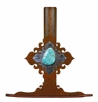 Turquoise Stone Metal Paper Towel Holder